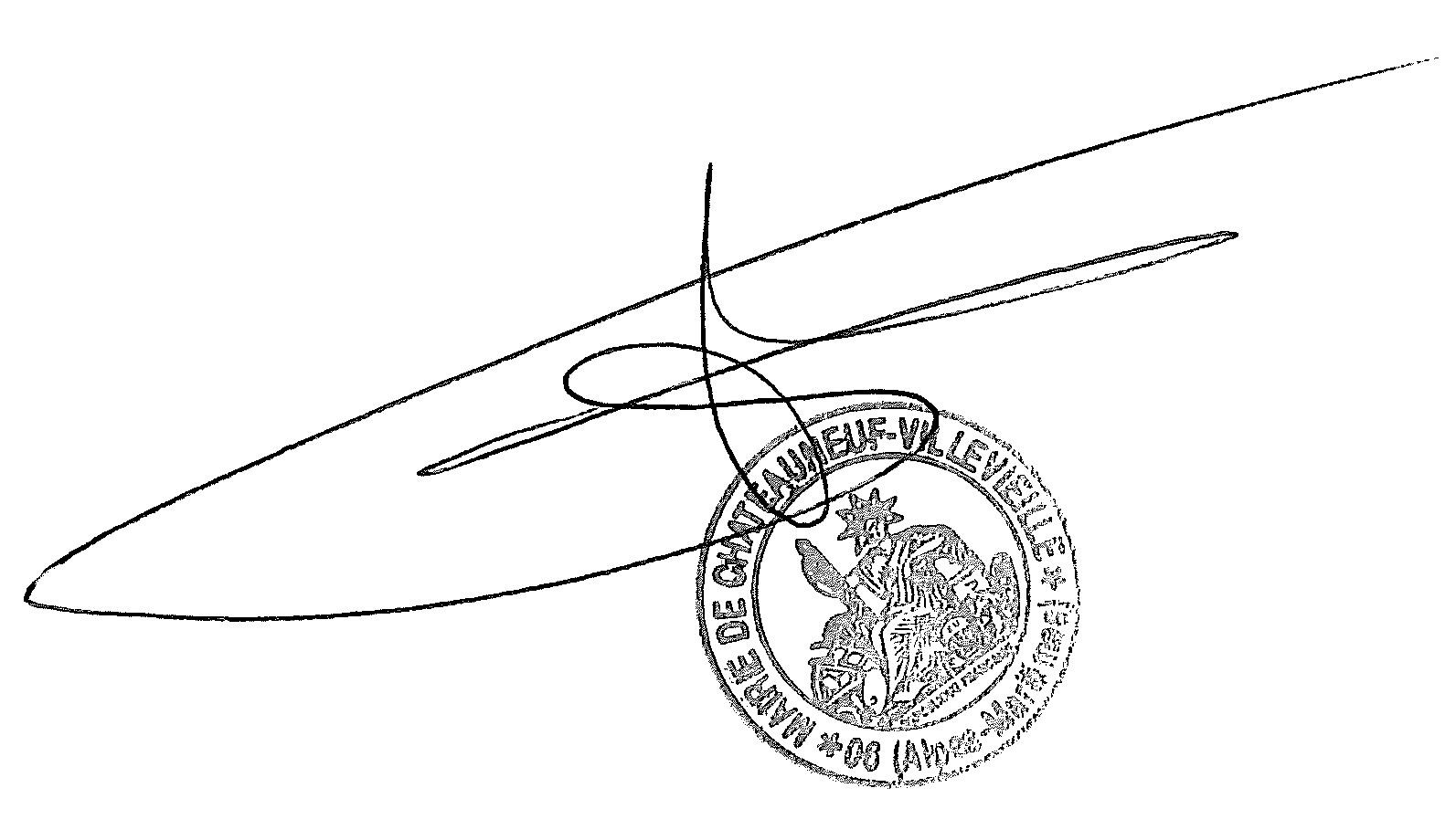 Signature M. le Maire