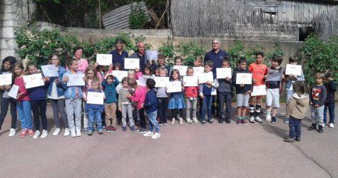 Remise des diplômes initiation aux premiers secours