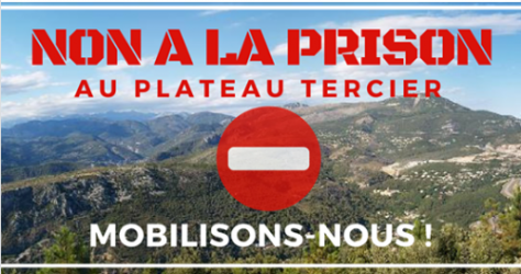 Pétition contre l'implantation de la prison sur le plateau Tercier
