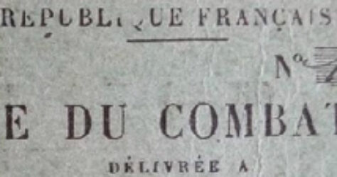 Attribution de la carte du combattant