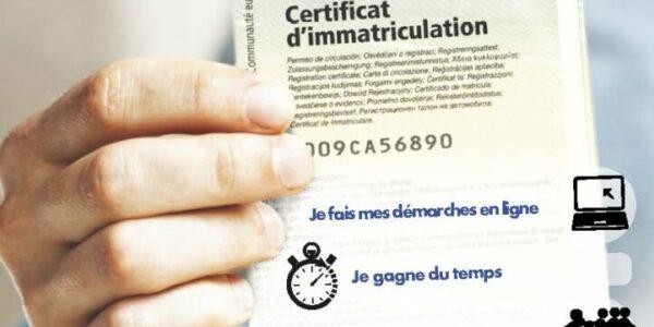 Démarche certificat d'immatriculation